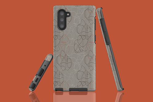 Taupe Squiggles Samsung Galaxy Case