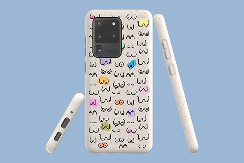 Boobs Samsung Galaxy Bio-Case   Environmentally Friendly Samsung Galaxy Case - S