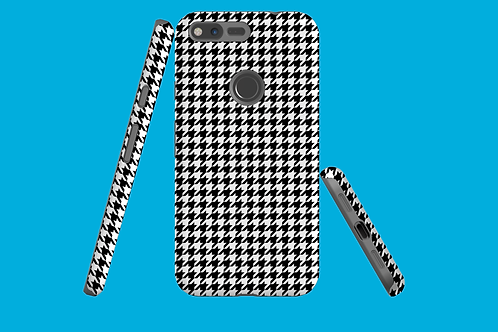 Black and White Houndstooth Google Pixel Case