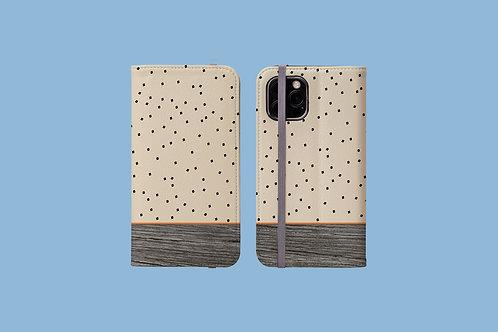 Driftwood Tiny Squares iPhone Folio Wallet Case