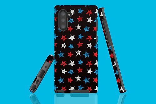 Red, White and Blue Stars on Dark Gradient Samsung Galaxy Case