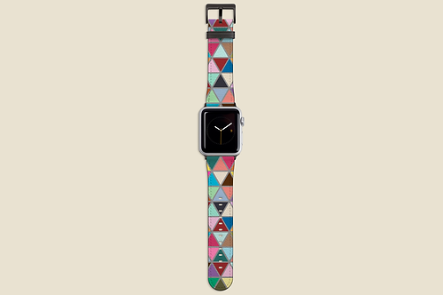 Multicolour Triangles Apple Watch Strap