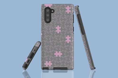 Pink and Grey Jigsaw Samsung Galaxy Case