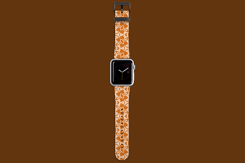 Nude and Light Tan Flowers Apple Watch Strap