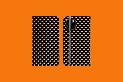 Dark and Light Nude Spots iPhone Folio Wallet Case