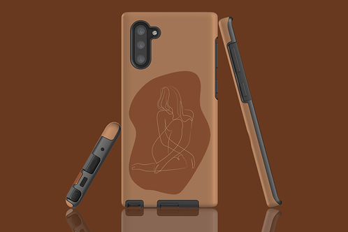 Two Tone Line Art Abstract Body Samsung Galaxy Case