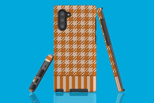 Tan Houndstooth Jumper Sleeve Samsung Galaxy Case