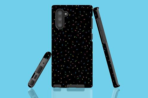 Rainbow Sprinkles on Black Samsung Galaxy Case