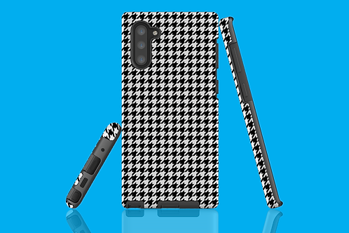 Black and White Houndstooth Samsung Galaxy Case