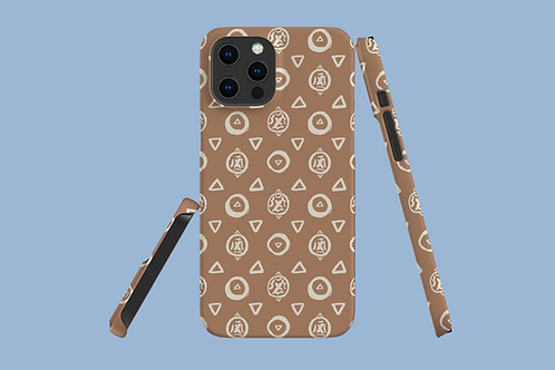 Abstract Circles and Triangles iPhone Case