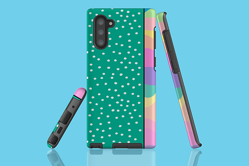 Pastel Rainbow Green White Dots Samsung Galaxy Case