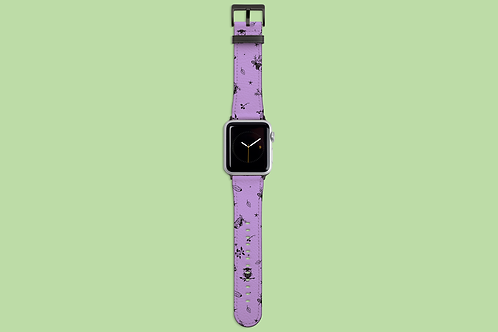 Purple Owls Apple Watch Strap