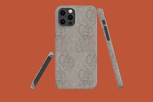 Taupe Squiggles iPhone Case
