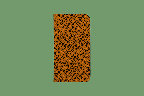 Leopard Print Tan iPhone Folio Wallet Case