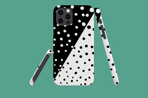 Diagonal Monochrome Dots iPhone Case