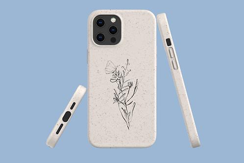 Flower Sketch iPhone Bio-Case | Environmentally Friendly iPhone Case
