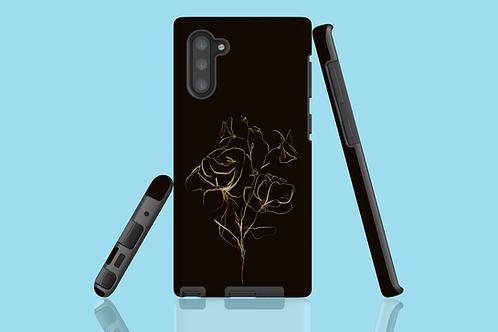 Gold Flower Sketch Samsung Galaxy Case