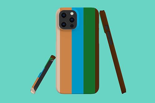 Five Colour Stripes iPhone Case