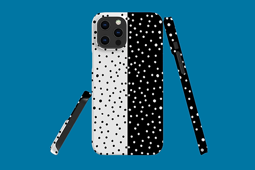 Black and White Horizontal Dots iPhone Case