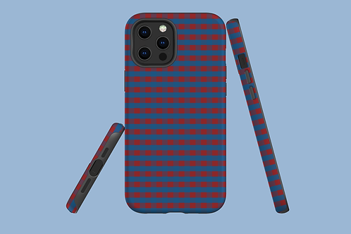 Red and Blue Plaid iPhone Case