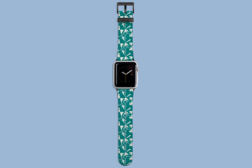 Teal and White Wall Flowers