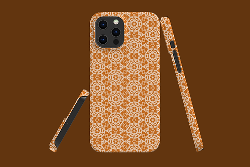 Nude and Light Tan Flowers iPhone Case