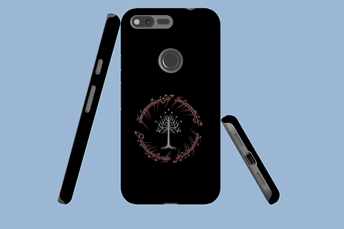 Red Glowing Fantasy Text Google Pixel Case