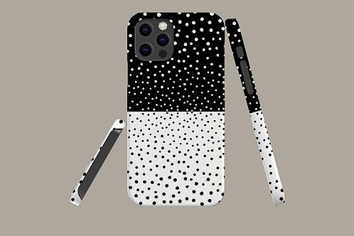 Monochrome Dots iPhone Case