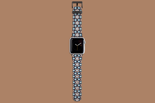 Floral Geometric Dark Apple Watch Strap
