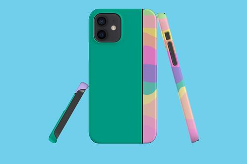 Pastel Rainbow Green iPhone Case