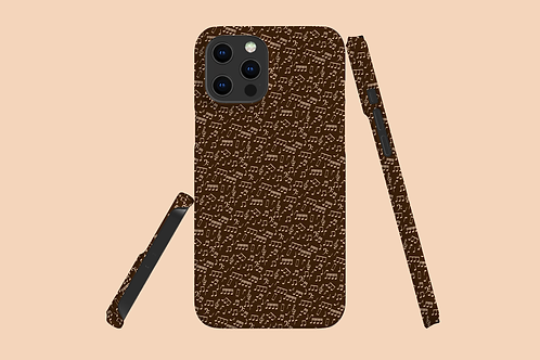 Chocolate Music Notes iPhone Case