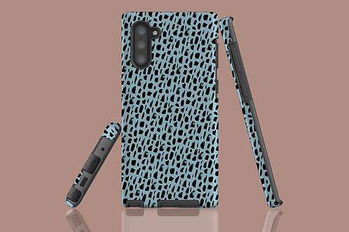 Black Pattern on Light Blue Samsung Galaxy Case