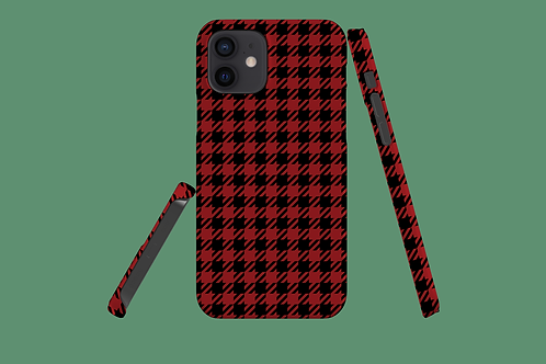 Red and Black Houndstooth iPhone Case