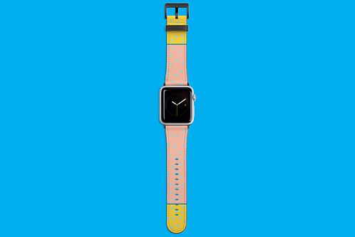 Fruit Salad Pastel Blue Dots Apple Watch Strap