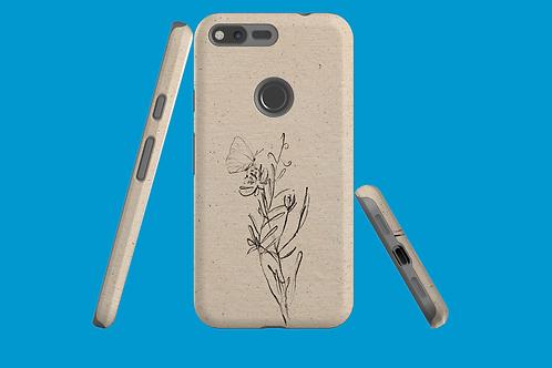 Flower Sketch Natural Paper Google Pixel Case