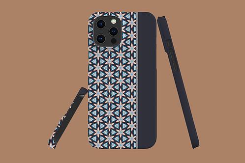 Floral Geometric Grey Panel iPhone Case