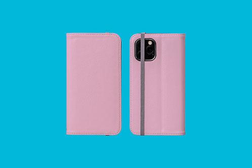 Bubblegum Pink Solid Colour iPhone Folio Wallet Case