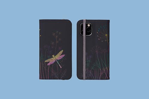 Dragonfly Meadow iPhone Folio Wallet Case
