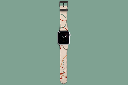 Earth Tone Squiggles Apple Watch Strap