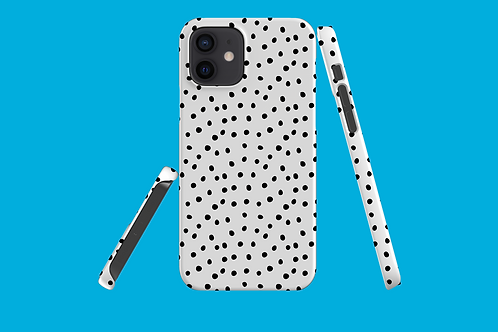 Black and White Polka Dots iPhone Case