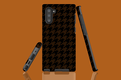 Black and Tan Houndstooth Samsung Galaxy Case