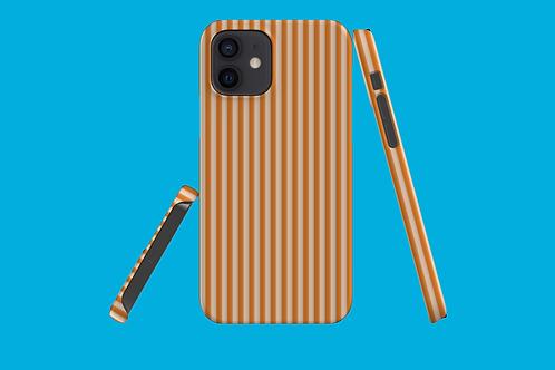 Tangerine Stripes iPhone Case