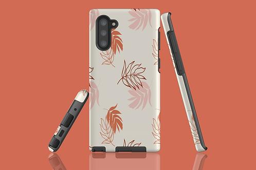 Peach Leaves Samsung Galaxy Case