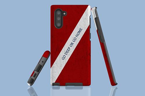 Go Deep or Go Home Dive Flag Samsung Galaxy Case