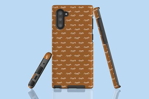 Tangerine Eyelashes Samsung Galaxy Case
