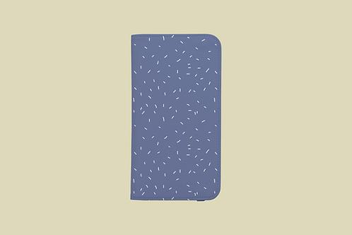 Pastel Lilac White Sprinkles iPhone Folio Wallet Case