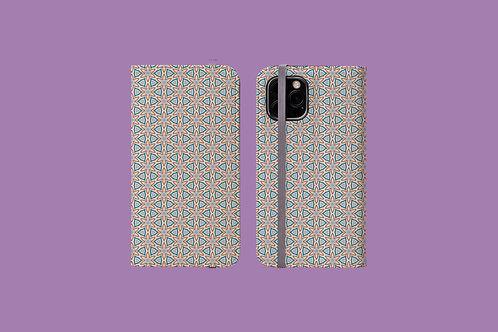 Floral Geometric iPhone Folio Wallet Case