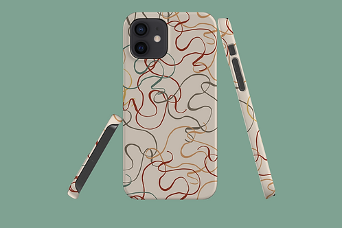 Earth Tone Squiggles iPhone Case