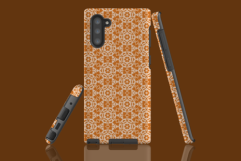 Nude and Light Tan Flowers Samsung Galaxy Case