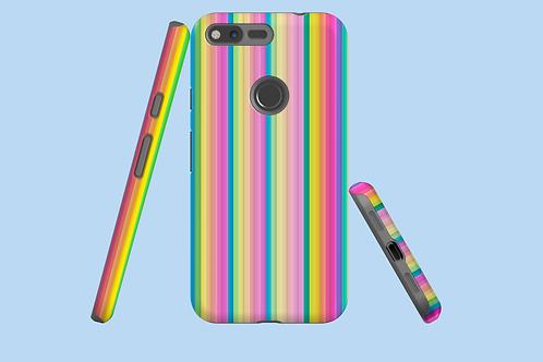 Pastel Rainbow Stripes Google Pixel Case